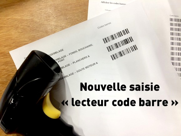 Nouvelle saisie avec lecteur de code barre