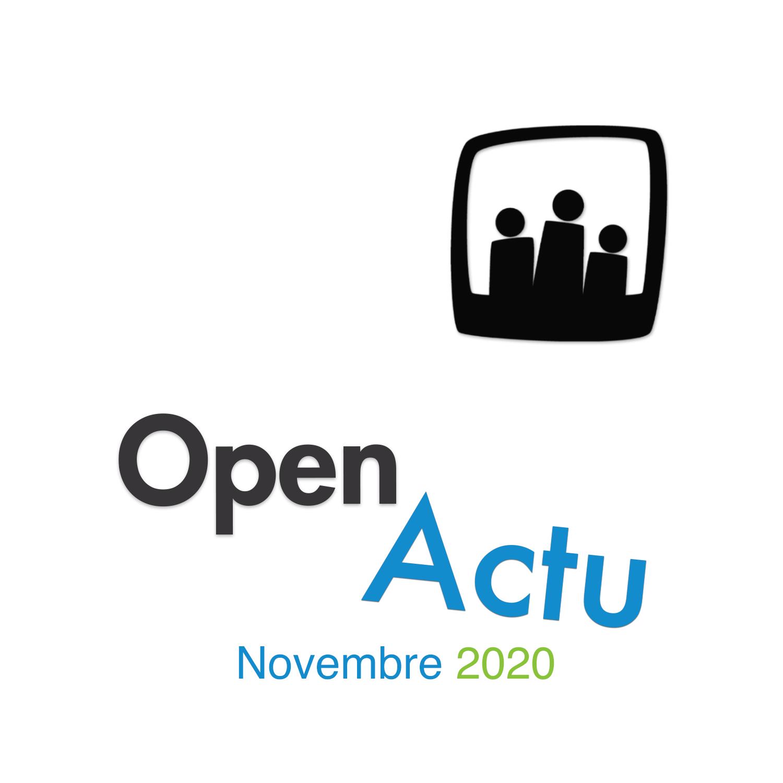 Les nouveautés du mois de novembre 2020
